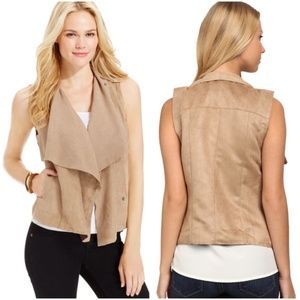 KUT From The Kloth Faux Suede Perforated Vest